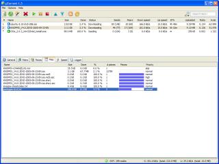µTorrent glavni prozor